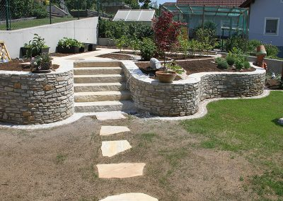 Gartenmauern Quarzit