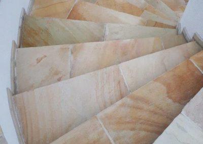 Sandstein Stiege