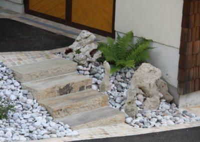 Sandstein Blockstufen